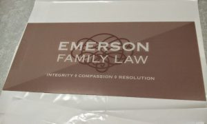 Law firm acrylic sign