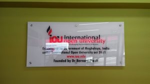 University acrylic sign