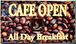 Cafe outdoor banner